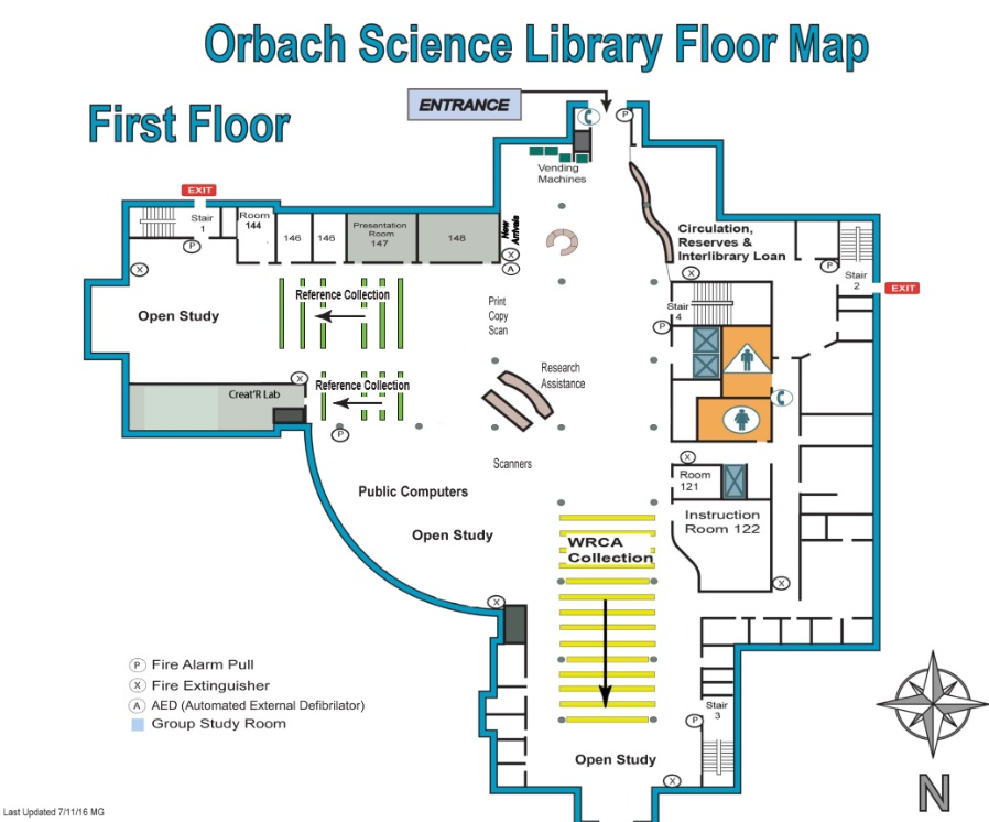 Orbach 1st Floor Map