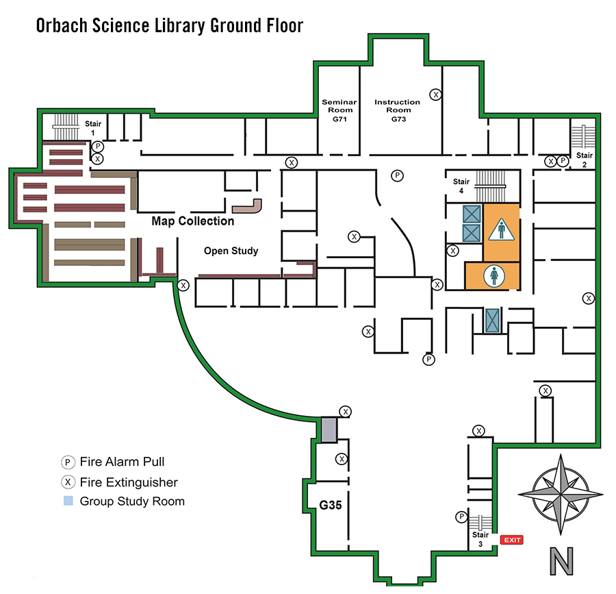 Orbach Ground Floor Map