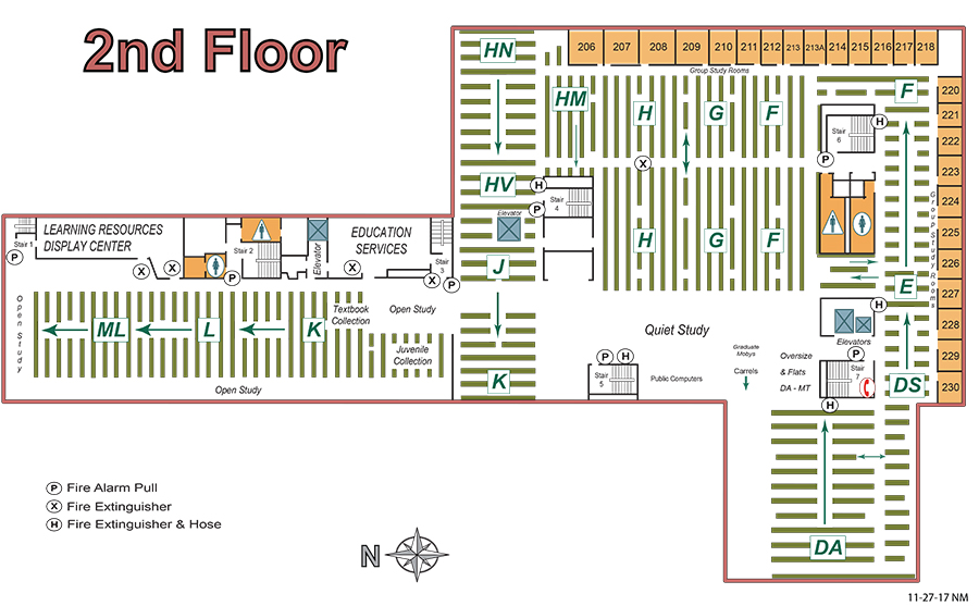 Rivera 2nd Floor Map