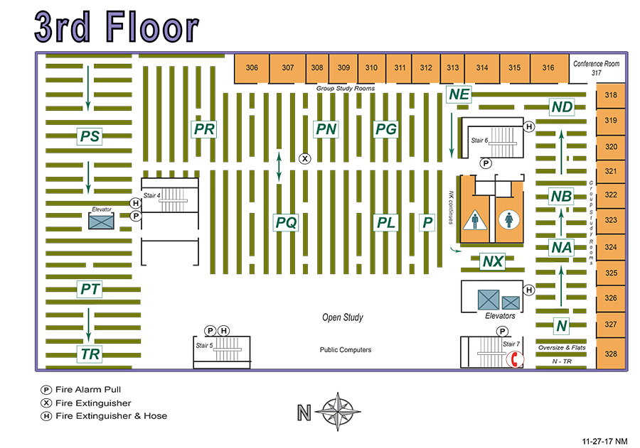 Rivera 3rd Floor Map