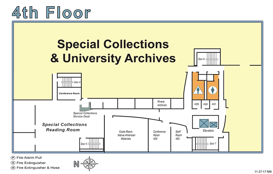 Rivera 4th Floor Map