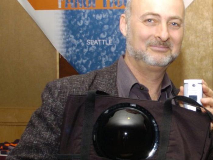 Image: David Brin at ACM CFP, 2005