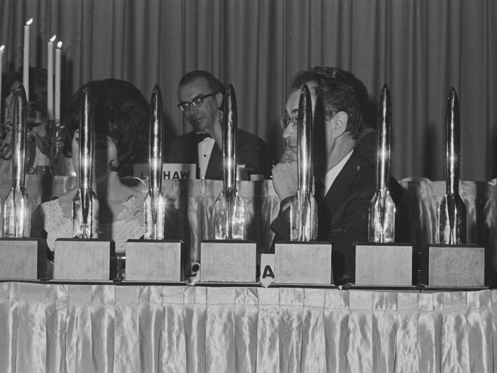 Hugo Awards presentation table, Tricon, 1966