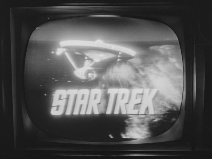 TV with Star Trek logo, Tricon, 1966