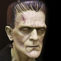 Sculpture of Frankenstein's monster by Mark Glassy