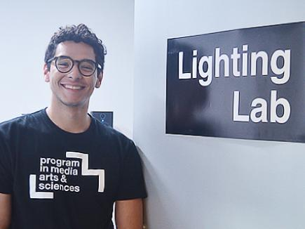 Gustavo Correa, fourth-year electrical engineering major at UCR, during his summer internship at MIT