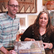 Eric Milenkiewicz of UCR Library pictured with Lorene Sisquoc of the Sherman Indian Museum