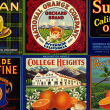 Collage of citrus labels from UCR Library's collection
