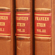 Frankenstein books from Special Collections