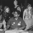 Klein photos collection: Masquerade judges table, St. Louiscon, 1969 (MS 381)