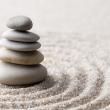 Zen sand-stone garden