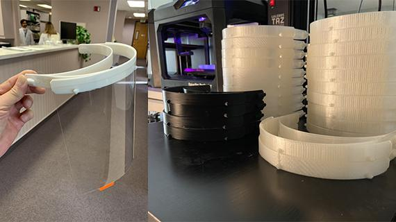 Creat'R Lab 3D-prints mask parts to protect local hospital staff