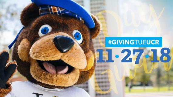 Scotty Highlander looks happy after UCR's 2018 Day of Giving results are tallied