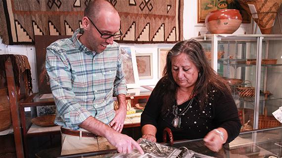 Eric Milenkiewicz and Lorene Sisquoc at Sherman Indian Museum