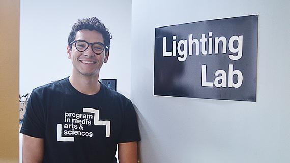 Gustavo Correa, fourth-year electrical engineering major at UCR, during his summer internship at MIT