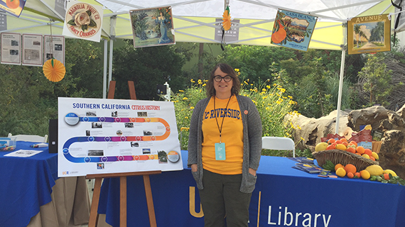 Krista Ivy representing UCR Library at LA Nature Fest 2017