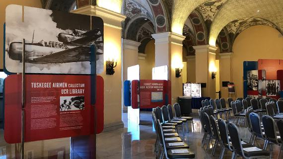 Tuskeegee Airmen traveling exhibit at the Bob Hope Patriotic Hall in Los Angeles, CA