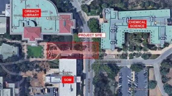 Construction project affecting Orbach Science Library and surrounding areas