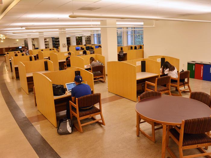 Rivera Library Basement Open Study Area
