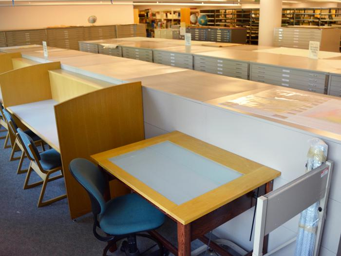 Orbach Science Library Map Reading Room